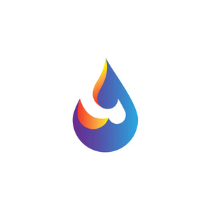 لوگو خلاقانه آب و آتش